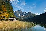 Austria; Styria; Lake Leopoldsteinersee: mountain lake with Pfaffenstein mountain at background | Oesterreich, Steiermark, Bergsee Leopoldsteinersee mit dem Pfaffenstein im Hintergrund