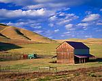 Barn and hayfields at Shandon, San Luis Obispo County, California