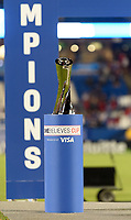 FRISCO, TX - MARCH 11: The SheBelieves Cup trophy during a game between Japan and USWNT at Toyota Stadium on March 11, 2020 in Frisco, Texas.