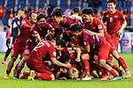 Vietnam players celebrates during the AFC Asian Cup UAE 2019 Round of 16 match between Jordan (JOR) and Vietnam (VIE) at Al Maktoum Stadium on 20 January 2019 in Dubai, United Arab Emirates. Photo by Marcio Rodrigo Machado / Power Sport Images