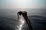 A boy diving in and facing his fear.Tamil Nadu,India.