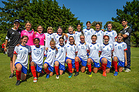 Auckland under-14 girls team. 2019 National Age Group Tournament at Memorial Park in Petone, Wellington, New Zealand on Thursday, 12 December 2019. Photo: Dave Lintott / lintottphoto.co.nz