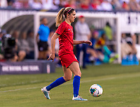 PHILADELPHIA, PA - AUGUST 29: Morgan Brian #6 of the United States passes the ball during a game between Portugal and the USWNT at Lincoln Financial Field on August 29, 2019 in Philadelphia, PA