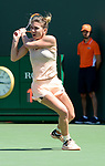 March 24 2018: Agnieszka Radwanska (POL) defeats Simone Halep (ROU) by 3-6, 6-2, 6-3, at the Miami Open being played at Crandon Park Tennis Center in Miami, Key Biscayne, Florida.©Karla Kinne/Tennisclix/CSM