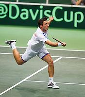02-02-14,Czech Republic, Ostrava, Cez Arena, Davis Cup Czech Republic vs Netherlands, Igor Sijsling (NED)<br /> Photo: Henk Koster
