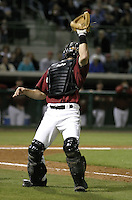 March 25, 2004:  Catcher Brad Ausmus of the Houston Astros organization during Spring Training at Osceola County Stadium in Kissimmee, FL.  Photo copyright Mike Janes/Four Seam Images