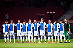 Players of CD Leganes line up prior to the La Liga 2017-18 match between Atletico de Madrid and CD Leganes at Wanda Metropolitano on February 28 2018 in Madrid, Spain. Photo by Diego Souto / Power Sport Images