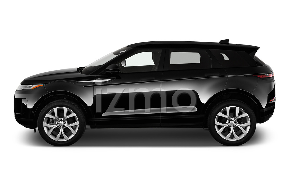 Car Driver side profile view of a 2020 Land Rover Range-Rover-Evoque SE 5 Door SUV Side View