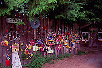 Hornby Island, BC, British Columbia, Canada - Knickknacks and Collectibles, Private Collection of Odds and Ends hanging on Fence