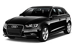 Front three quarter view of a 2014 Audi A3 Ambition Sportback 5 Door Hatchback2014 Audi A3 Ambition Sportback 5 Door Hatchback
