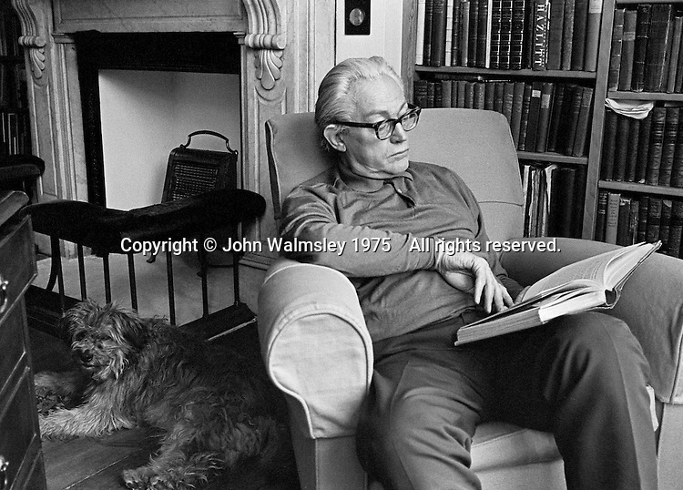 Michael Foot, politician, at home in Hampstead, London.  1975.
