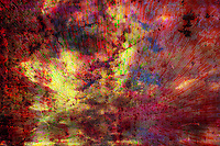 """What is anger? How do we see it? How do we feel it?<br /> How do we express it?<br /> Seeing red, blind rage, dark thoughts.Uncontrolled dark energy.<br /> An artists study on the feel and colors of anger expressed on canvas.<br /> A one of a kind creation, printed on canvas and mounted on a wood stretcher frame. size 24x36""""<br /> $1500.00"""