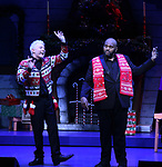 """Ruben Studdard and Clay Aiken during the Opening Night Curtain Call for """"Ruben & Clay's First Annual Christmas Show"""" on December 11, 2018 at the Imperial Theatre in New York City."""
