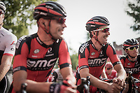 a smiling Taylor Phinney (USA/BMC) at the start<br /> <br /> 12th Eneco Tour 2016 (UCI World Tour)<br /> stage 4: Aalter - St-Pieters-Leeuw (202km)