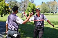 James Hydes, North harbour defeats Sam Jones, Taranaki. 2020 Interprovincial Golf Championships, Whitford Gold Club, Auckland, New Zealand, Saturday 28 November 2020. Photo: Simon Watts/www.bwmedia.co.nz