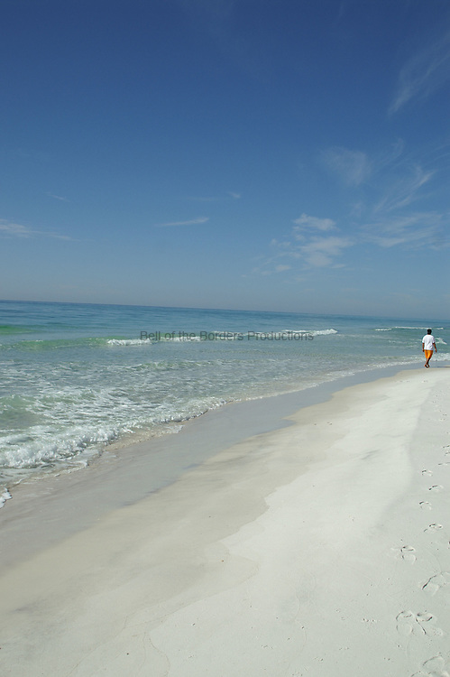 Pensacola Beach is a classic sugar sand beach along the Gulf of Mexico.