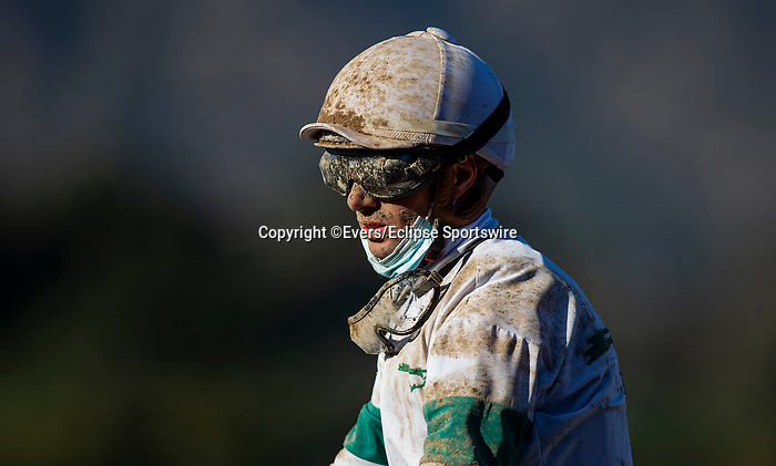March 06, 2021: Florent Geroux at Santa Anita Park in Arcadia, California on March 06, 2021. Evers/Eclipse Sportswire/CSM