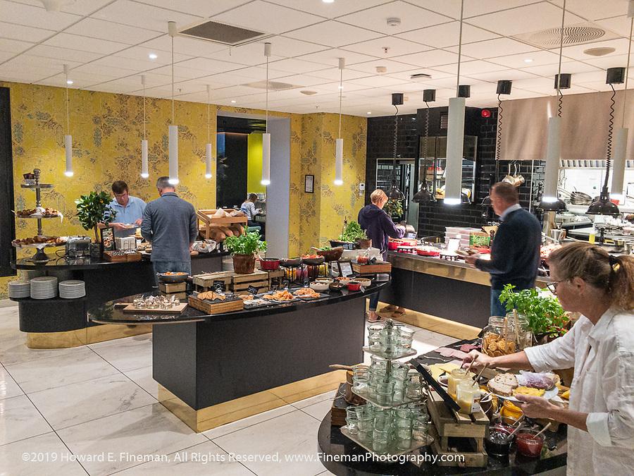 Breakfast buffet in Bergen hotel