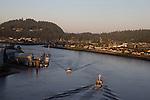 La Conner, Shelter Bay, Swinomish Channel,  Skagit County, Washington State,