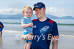 Enjoying the beach in Inch on Sunday, l to r: Ronan and Wayne Hickey from Rathmore.