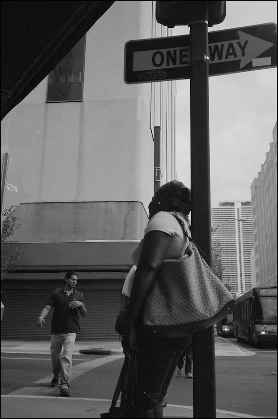 "The Crossing<br /> From ""Walking Downtown"" series. Miami, 2009"
