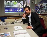 19-12-10, Tennis, Rotterdam, Reaal Tennis Masters 2010, Toernooi directeur Raemon Sluiter aan het werk in zijn kantoor boven de baan