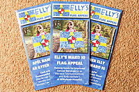 Pictured: The fundraising leaflet for the appeal organised by Elly Neville in Pembroke, west Wales, UK. Tuesday 20 February 2018<br /> Re: Seven-year-old Elly Neville who was born despite doctors saying her parents would not be able to have any more children, has raised over £150,000 for the cancer ward that treated her father.<br /> Her parents Lyn and Ann had been told they were unlikely to have more children after he underwent a bone marrow transplant in 2005. <br /> Mr Neville subsequently spent a lot of time on the Ward 10 cancer facility at Withybush Hospital in Haverfordwest, Pembrokeshire.<br /> But four years later they were stunned when his painter and decorator wife Ann fell pregnant again.