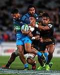 George Moala of the Blues during the Super Rugby Match between the Blues and the Chiefs, Eden Park, Auckland,  New Zealand. Friday 26  May 2017. Photo: Simon Watts / www.bwmedia.co.nz