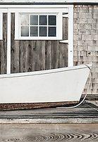 Rowboat and boathouse detail, Cape Cod
