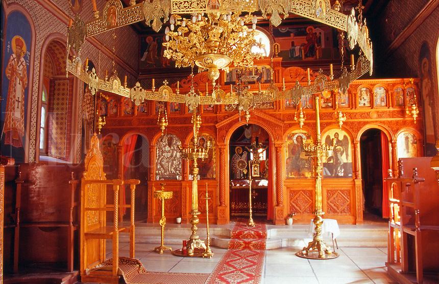 Greece Lesvos The orthodox church of Moni Ypsilou