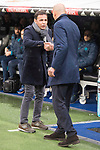 Real Madrid coach Zinedine Zidane and Villarreal coach Javi Calleja during La Liga match between Real Madrid and Villarreal CF at Santiago Bernabeu in Madrid, Spain. January 13, 2018. (ALTERPHOTOS/Borja B.Hojas)