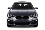 Car photography straight front view of a 2018 BMW 1 Series Base 5 Door Hatchback