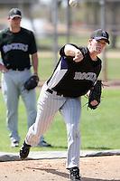 Daniel Houston, Colorado Rockies 2010 minor league spring training..Photo by:  Bill Mitchell/Four Seam Images.