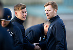 St Johnstone Training….25.01.19          McDiarmid Park<br />Liam Craig pictured with Callum Hendry during training this morning after signing a contract extension keeping him at saints.<br />Picture by Graeme Hart.<br />Copyright Perthshire Picture Agency<br />Tel: 01738 623350  Mobile: 07990 594431