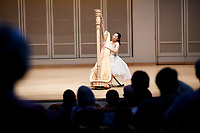 Valerie Sim performs during the Stars of Tomorrow Concert at the 11th USA International Harp Competition at Indiana University in Bloomington, Indiana on Thursday, July 11, 2019. (Photo by James Brosher)