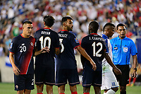 Harrison, NJ - Friday July 07, 2017: David Guzmán, Bryan Ruiz, Giancarlo González, Joel Campbell during a 2017 CONCACAF Gold Cup Group A match between the men's national teams of Honduras (HON) vs Costa Rica (CRC) at Red Bull Arena.