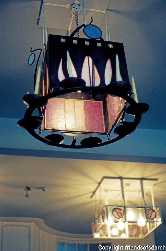 C.R. Mackintosh: School of Art, Glasgow. Lighting fixtures, Board Room. East Wing, 1897-99.