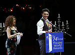 Bernadette Peters and Charlie Stemp during the 74th Annual Theatre World Awards at Circle in the Square on June 4, 2018 in New York City.