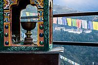 Trongsa, Bhutan. Trongsa Dzong (Monastery-Fortress) in early morning.