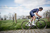 Gianni Vermeersch (BEL/Alpecin-Fenix) up the gutter on the Paterberg<br /> <br /> 64th E3 Classic 2021 (1.UWT)<br /> 1 day race from Harelbeke to Harelbeke (BEL/204km)<br /> <br /> ©kramon