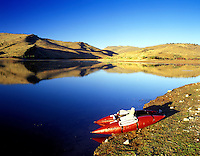 M00217M.tiff   Kick boat for fly fishing on Higgins Reservoir, Oregon