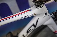 British National Champion Adam Blythe's (GBR/Aqua Blue Sport) bike<br /> <br /> 57th Brabantse Pijl - La Flèche Brabançonne (1.HC)<br /> 1 Day Race: Leuven › Overijse (197km)