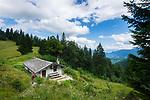 Deutschland, Bayern, Chiemgau, Ruhpolding: die Hoerndlalm (Bergwachthuette) | Germany, Bavaria, Chiemgau, Ruhpolding: Hoerndlalm (mountain rescue hut)