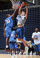 P/WF Mason Plumlee (Arden, NC / Christ School)gets the rebound during the NBA Top 100 Camp held Thursday June 21, 2007 at the John Paul Jones arena in Charlottesville, Va. (Photo/Andrew Shurtleff)