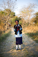 """16 year old Anastacia Mwaba from Kafinda basic school in Sereje district, on her first safari in Kasanka National Park. """"I was surprised to learn that the Zambian people own the animals. I thought it was the government. God gave natural resources to all. The government's job is just to protect them from being harmed."""" Local schools and women's groups are regularly brought into Kasanka, which is unique in the country and unusual in Africa as it is privately managed and owned by a trust. People are able to see animals flourishing in land which was once free reign for poachers. Combined with anti-poaching scouts, the education programme is on the frontline of conservation methods in the park, showing local people wild animals in their natural habitat."""