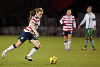 Heather O'Reilly passes the ball in the second half. USWNT played played a friendly against Ireland at JELD-WEN Field in Portland, Oregon on November 28, 2012.