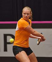 The Netherlands, Den Bosch, 16.04.2014. Fed Cup Netherlands-Japan, Practice, Kiki Bertens (NED) <br /> Photo:Tennisimages/Henk Koster