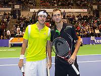 17-12-11, Netherlands, Rotterdam, Topsportcentrum, Finalisten Robin Haase(L) en Thiemo de Bakker