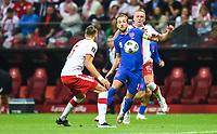 8th September 2021; PGE National Stadium, Warsaw, Poland: FIFA World Cup 2022 Football qualification, Poland versus England;  Kamil Glik, challenges Harry Kane