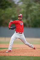 Philadelphia Phillies pitcher Elniery García (70) during a Minor League Spring Training game against the Toronto Blue Jays on March 30, 2018 at Carpenter Complex in Clearwater, Florida.  (Mike Janes/Four Seam Images)